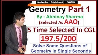 Geometry Triangles Part 1 😲 Abhinay Sir (Abhinay Maths) SSC CGL Mains 2017 thumbnail