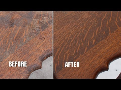 Vintage Furniture Restoration | Part 2 - Refinishing An Old Oak Table