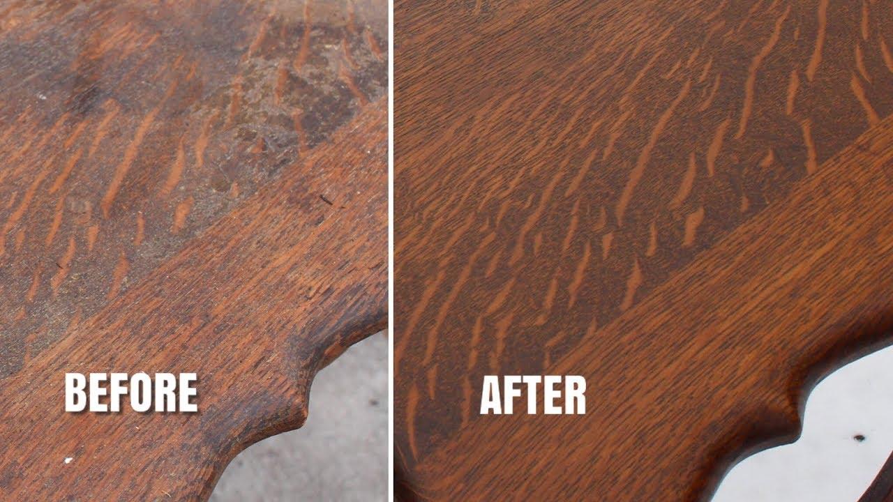 Vintage Furniture Restoration Part 2 Refinishing An Old Oak Table