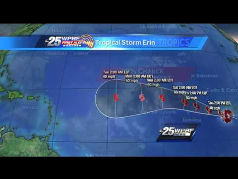 Tracking The Tropics: Erin becomes fifth named storm of 2013 hurricane season