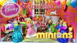 Rapunzel Tangled Disney Princess MagiClip Dolls MINIONS American Girl Mini Doll KINDER Surprise Eggs
