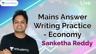 Mains Answer Writing Practice - Economy | KAS/PSI/FDA/SDA/KPSC | Sanketha Reddy