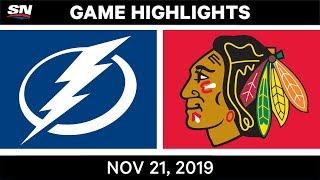 NHL Highlights   Lightning vs Blackhawks – Nov. 21, 2019