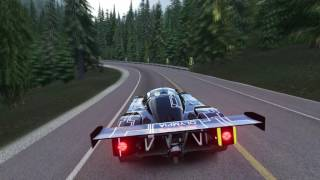 Assetto Corsa: Lake Louise, Canada free roam in Sauber Mercedes C9