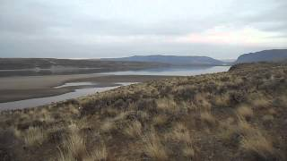 Columbia River Washington State with water levels at historic low due to crack in the Wanapum Dam