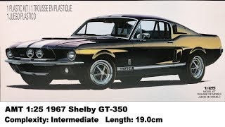 AMT 1:25 Shelby 1967 Mustang GT-350 (Eleanor) Kit Review