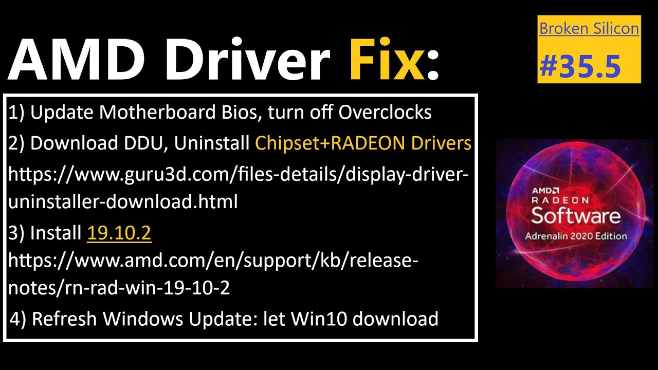 RADEON Driver Fixing Guide | Kevin Tinnin, AMD Community Admin | Broken Silicon 35.5