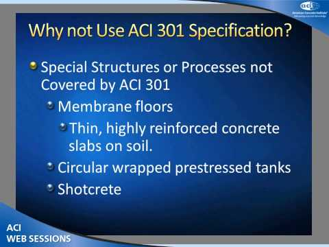 Introduction of ACI 350.5, Specification for Environmental Engineering Concrete Structures