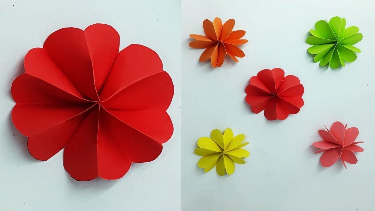 How to make paper flower easy paper flower wall decoration diy how to make paper flower easy paper flower wall decoration diy flowers making tutorial mightylinksfo