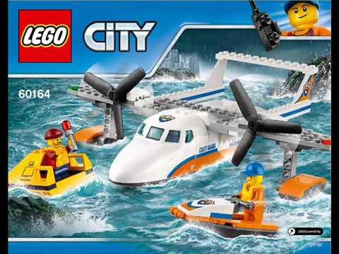 Sea Rescue Plane 60164 Lego Build Bauanleitung Instrukcja Budowania