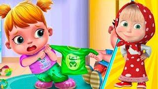 Маша и Ужасные близнецы играем в доктора | мультики для детей новые серии