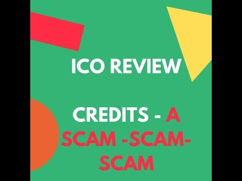 CREDITS ICO I think it is a SCAM