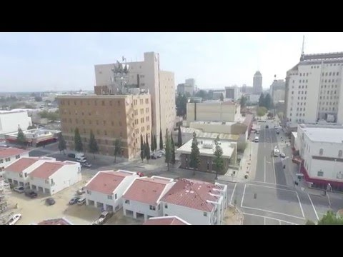 Downtown Fresno Aerial Movie