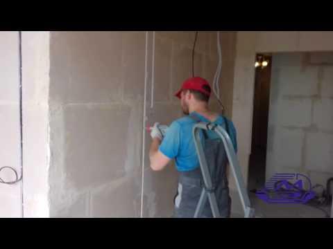 Штробление стен! (Штроборез+Пылесос) Укладка кабеля в готовую штробу!