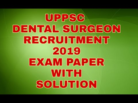 Dental Surgeon Recruitment Exam | Paper with Solution | dent