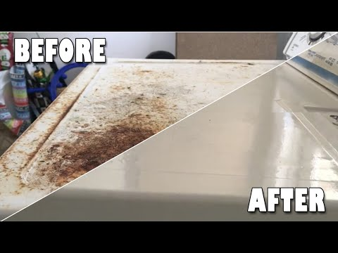 DIY Dryer Restoration, Cleaning and resurfacing a rusted dryer using Offical Orange