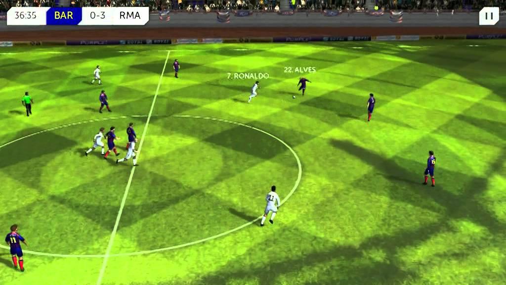 DREAM LEAGUE SOCCER - Real madrid vs Barcelona (full team) 2015 Enjoy