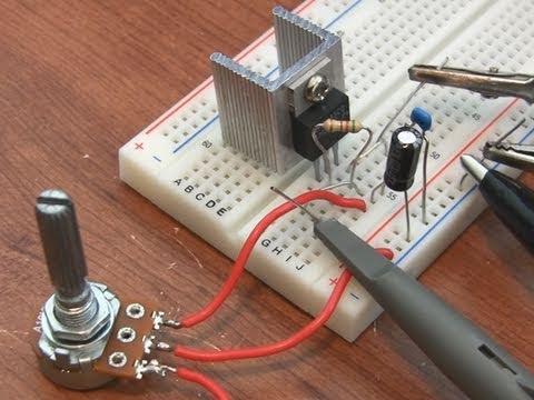 Wiring Diagram For 220v To 110v Converter Lm317 Adjustable Voltage Regulator Tutorial Youtube