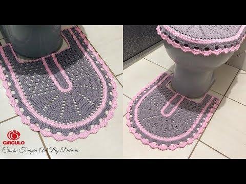 Tapete Pé do Vaso - Jogo de Banheiro de Crochê Simples