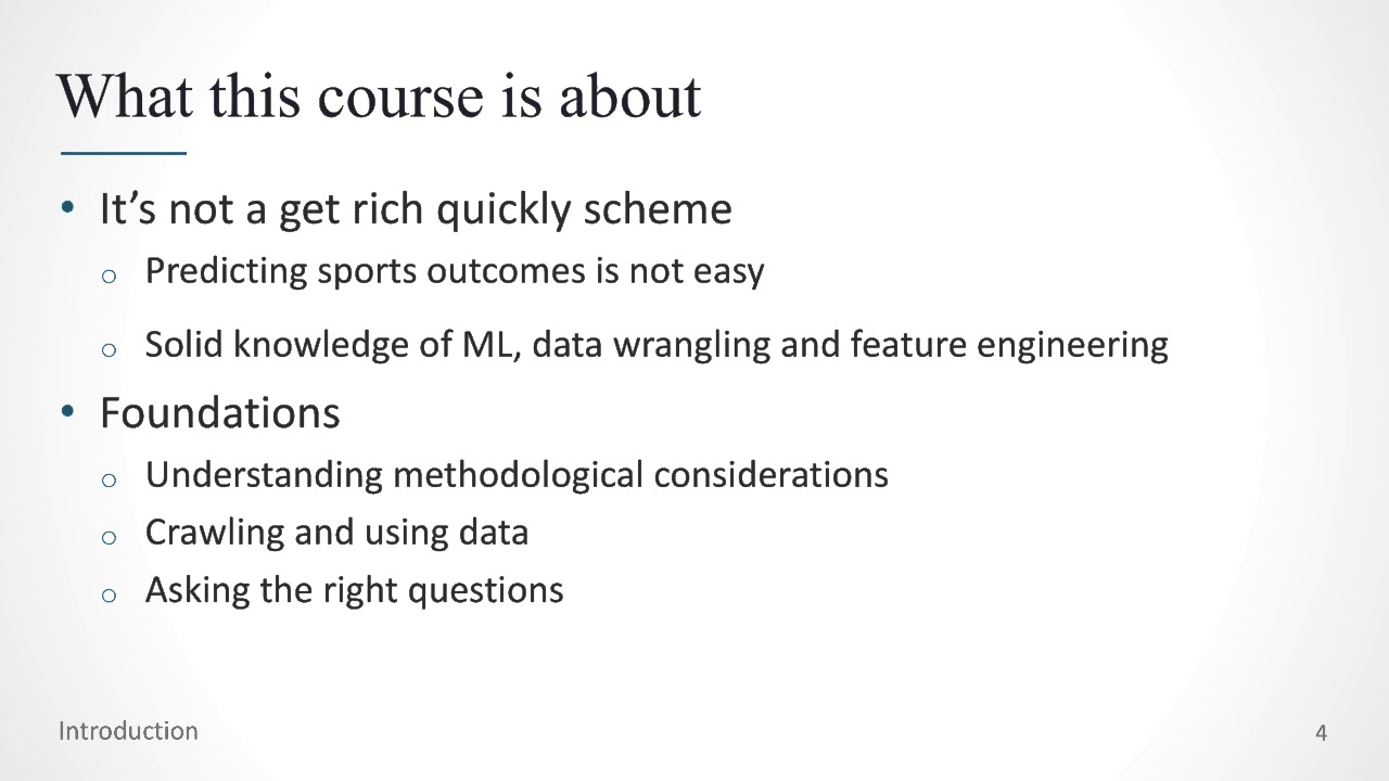 Introduction to machine learning for sports betting