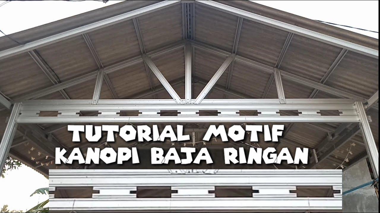 Download CARA BIKIN MOTIF KANOPI BAJA RINGAN PALING MUDAH