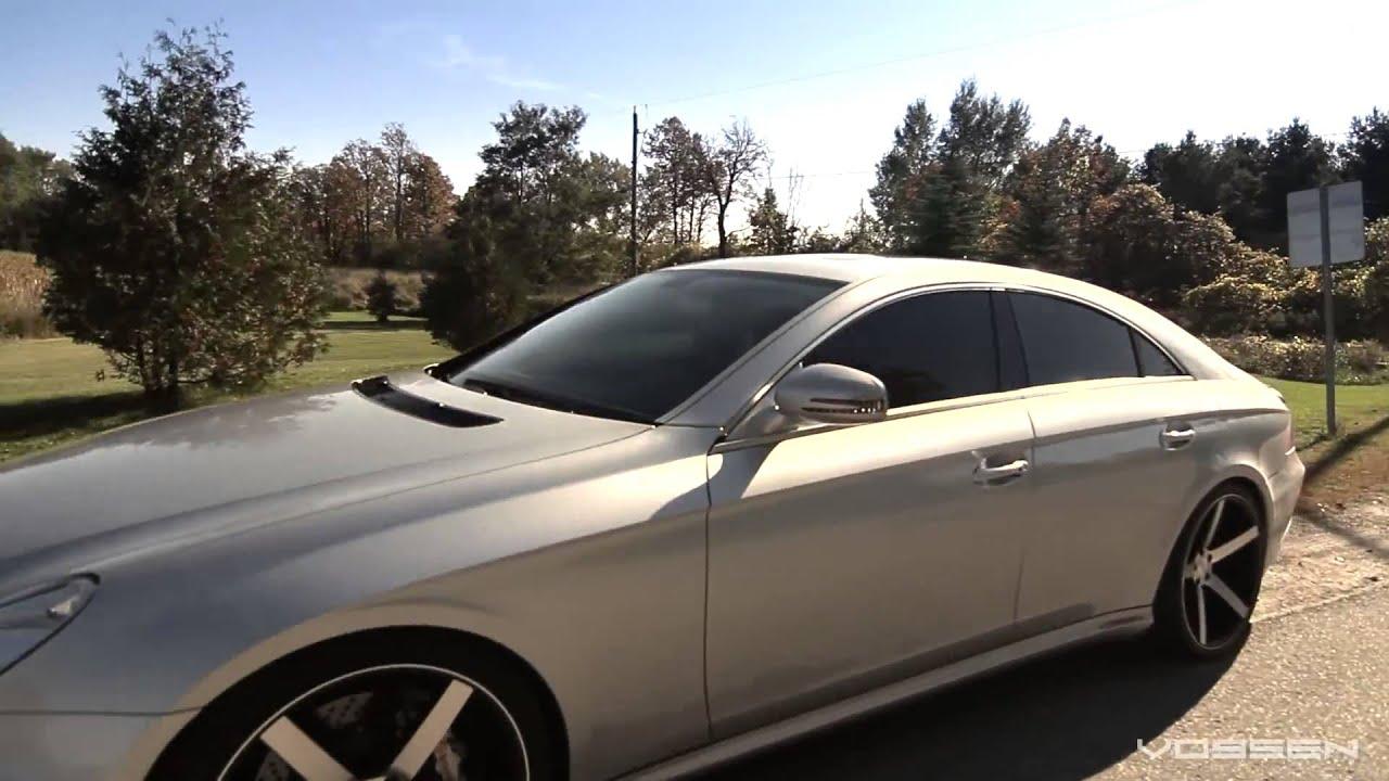 Mercedes Benz Cls550 On 20 Vossen Vvs Cv3 Concave Wheels Rims Youtube 2008