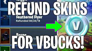 HOW TO SELL/REFUND YOUR SKINS AND EMOTES FOR VBUCKS IN FORTNITE! *LEGIT METHOD IN-GAME!*
