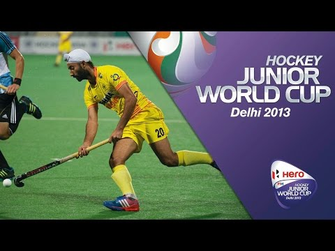 Argentina vs India - Men's Hero Hockey Junior World Cup India 9th/13th Place [12/12/2013]