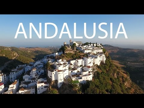 White Towns Andalusia Spain (Gaucín, Casares) by drone