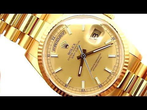 18K Gold Rolex President Day-Date 118238 (Tony Soprano Watch)