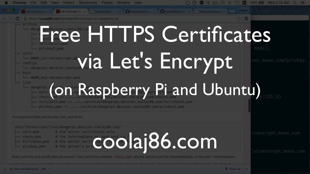 Free Ssl Certificates With Lets Encrypt On Raspberry Pi And Ubuntu
