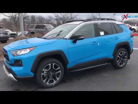 New 2019 TOYOTA RAV4 Adventure Blue Color || Car Shoping
