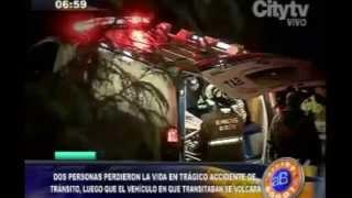 El Noctámbulo: Accidente en La Conejera dejó dos personas muertas