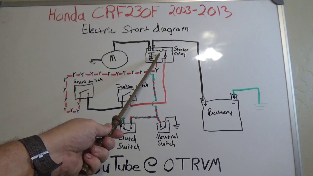 [SCHEMATICS_4JK]  Honda CRF230F 2003-2013 Electric Start Diagram Troubleshoot - YouTube | 05 Crf 230 Wiring Diagram |  | YouTube