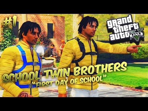 GTA 5 School Twin Brothers Ep. 1 - First Day Of School 📅