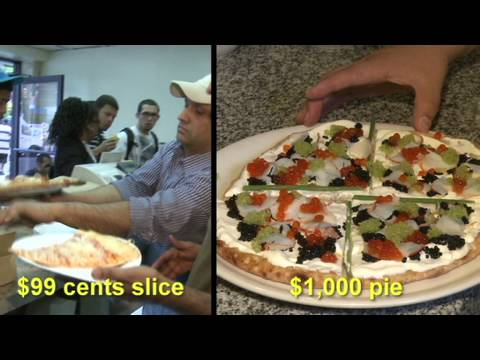 $1 vs $1,000 Pizza
