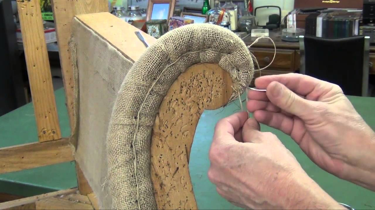 Camel Back Sofa Upholstery  Hand Stitched Edge Roll  YouTube