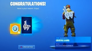 I Got DIAMOND LLAMA BACKBLING And ALL HIGH STAKES CHALLENGE REWARDS in Fortnite!