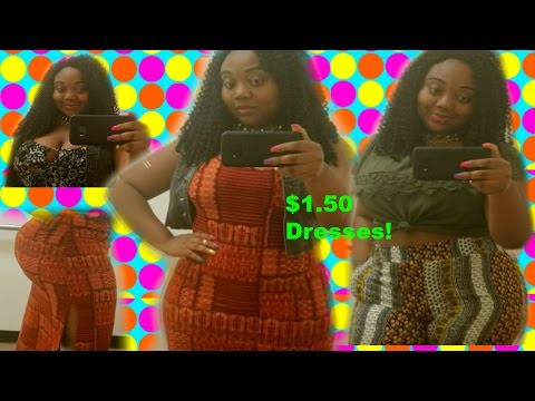 RAINBOW SHOPS $1.50 DRESSES?!?! | In the Fitting Room TRY ON  | CURVY THICK GIRL SUMMER EDITION #7