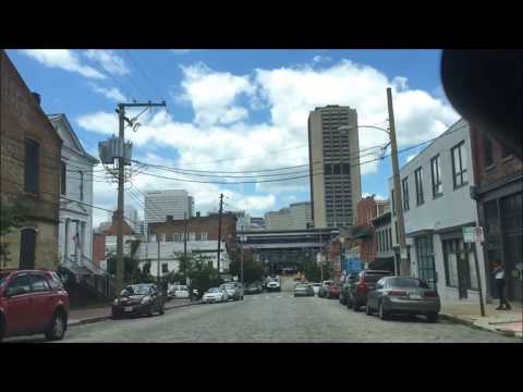 Driving Monument Avenue, Downtown, and Shockoe Bottom in Richmond