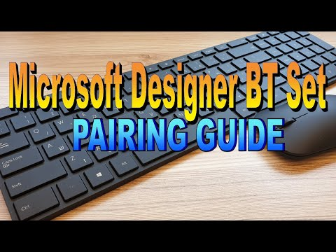 Microsoft Designer Bluetooth Desktop Set - Pairing Guide (4K60FPS)