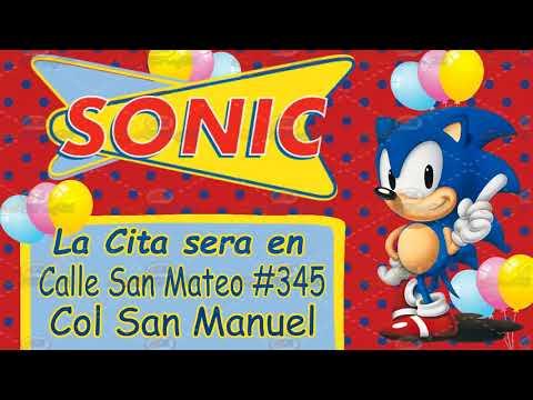 Video Invitacion Sonic Boom Youtube