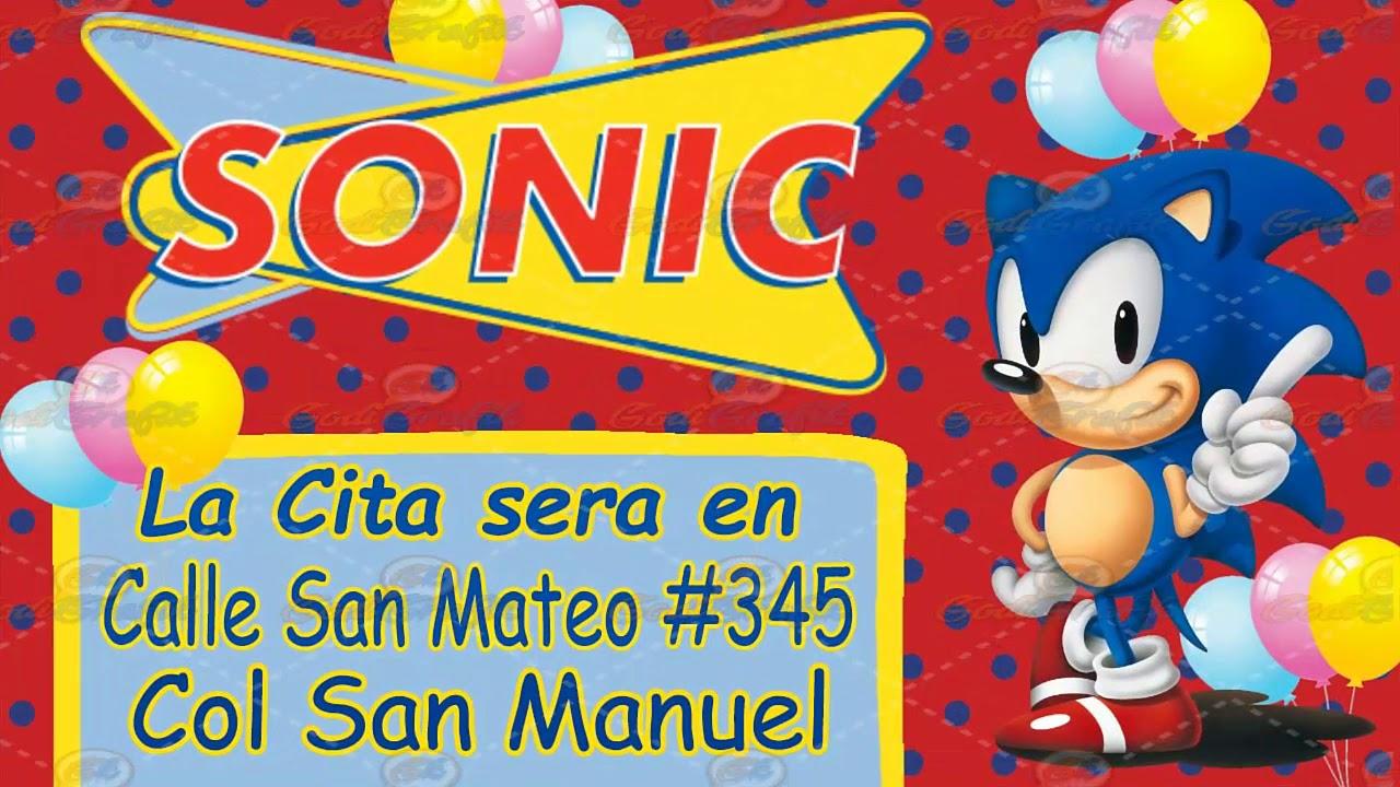 Video Invitacion Sonic Boom