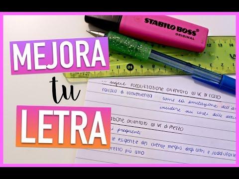 MEJORA TU LETRA: tips para escribir bonito y ordenado   Valeria Basurco