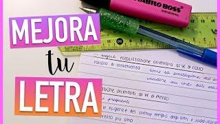 MEJORA TU LETRA tips para escribir bonito y ordenado  Valeria Basurco