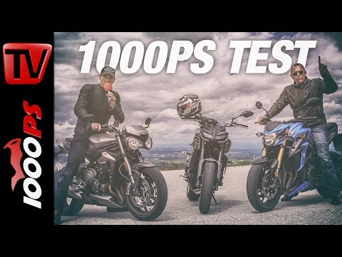 1000PS Test - Triumph Street Triple RS vs. Yamaha MT-09 vs. Suzuki GSX-S 750
