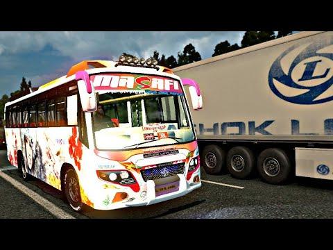 Ashok Leyland Bus Mod | Euro truck simulator 2 | ETS2 | New bus mod for  v1 30 | bus driving |
