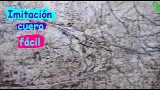 DIY IMITACIÓN CUERO// PIEL FALSA PARA MANUALIDADES