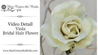 Ivory Velvet Bridal Hair Flower by Hair Comes the Bride - Viola