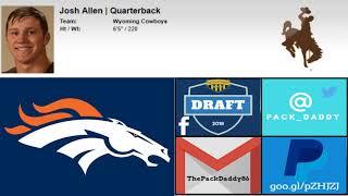 2018 NFL Mock Draft 4.0: Quarterback Blitz Free HD Video